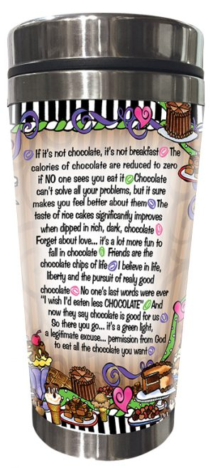 Reasons for Chocolate Stainless Steel tumbler BACK