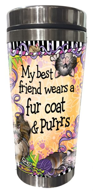 BF Cat Stainless Steel Tumbler FRONT