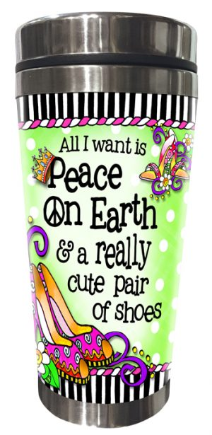 Peace on Earth Stainless Steel Tumbler FRONT