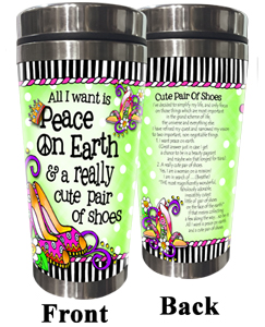 Peace on Earth Stainless Steel Tumbler