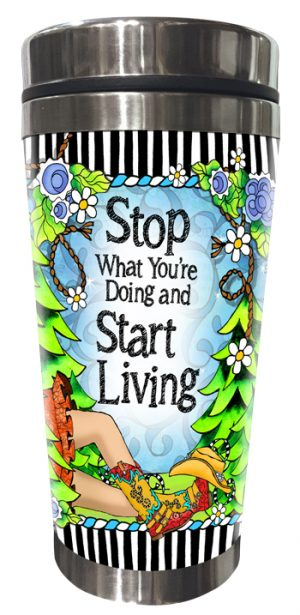 Start Living Stainless Steel Tumbler FRONT