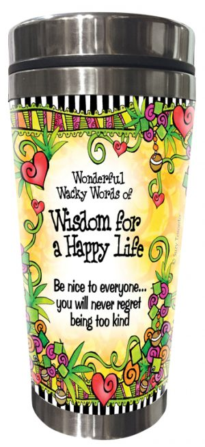 Happy Life Stainless Steel Tumbler FRONT