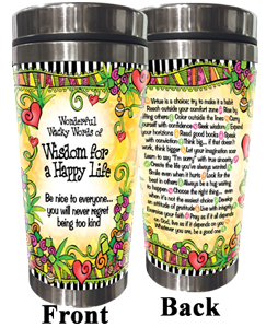 Happy Life Stainless Steel Tumbler