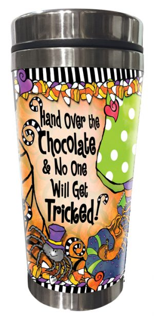 Chocolate Tricked Stainless Steel tumbler FRONT