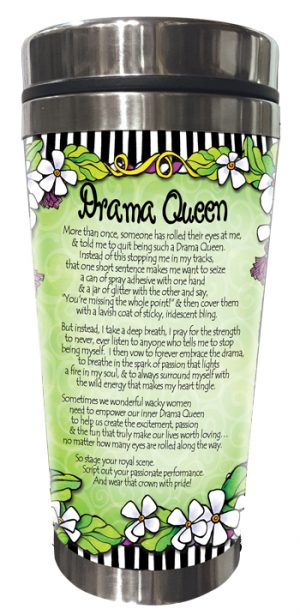 Drama Queen Stainless Steel Tumbler BACK
