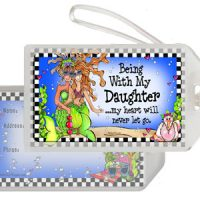Being With My Daughter …my heart will never let go. (Divas of the Deep) – Bag Tag