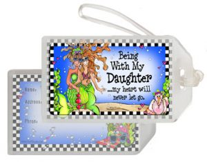 Being with Daughter bag Tag