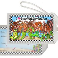 Being With My Girl 'Fins (Divas of the Deep) – Bag Tag