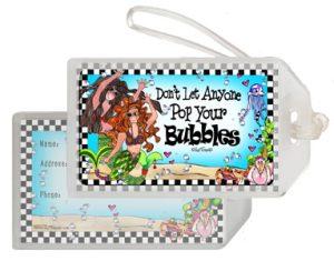 Bubbles bag tag