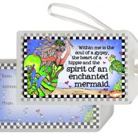 Within me is the soul of a gypsy, the heart of a hippie and the spirit of an enchanted mermaid (Divas of the Deep) – Bag Tag