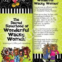 The Sacred Sisterhood of Wonderful Wacky Women – Bookmark (green)