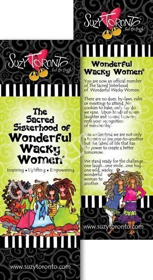 Sacred sisterhood of Wonderful Wacky Women - Bookmark (green)