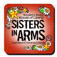 Wonderful Wacky Women of Liberty Sisters in Arms Guardians of Home and Family – Coaster