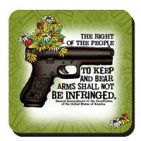The Right of the People to Keep and Bear Arms Shall Not Be Infringed (Women of Liberty) – Coaster