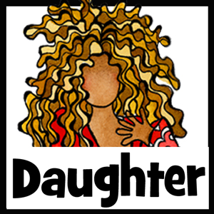 Daughter gifts - button