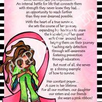 "She Who Wears a Pink Ribbon (Pink Ribbon) – 8 x 10 Matted ""Gifty"" Art Print"