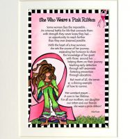 "She Who Wears a Pink Ribbon (Pink Ribbon) – 8 x 10 Matted ""Gifty"" Art Print"
