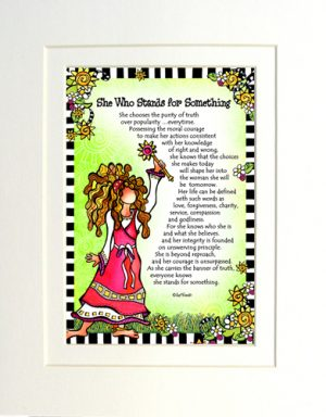 Stands for Something - Gifty art print - Matted