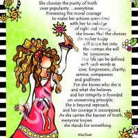 """She Who Stands for Something – 8 x 10 Matted """"Gifty"""" Art Print"""