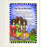 """They Who are Wise Women – (Christmas) 8 x 10 Matted """"Gifty"""" Art Print"""