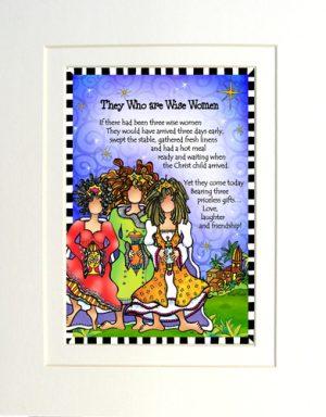 Wise Women - matted art print