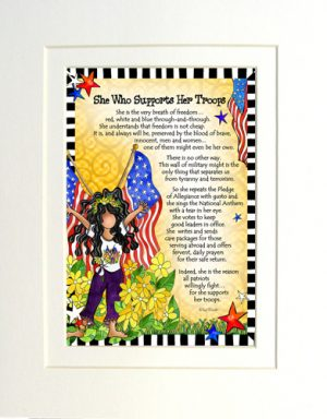 Supports our Troops - Gifty art print - Matted