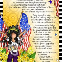 """She Who Supports Her Troops – 8 x 10 Matted """"Gifty"""" Art Print"""