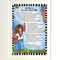 """She Who is An Air Force Wife – 8 x 10 Matted """"Gifty"""" Art Print"""
