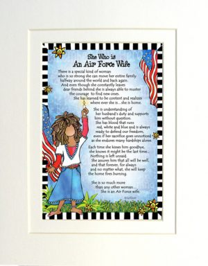 Air Force Wife - Gifty art print - Matted