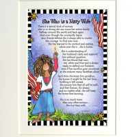 """She Who is a Navy Wife – 8 x 10 Matted """"Gifty"""" Art Print"""