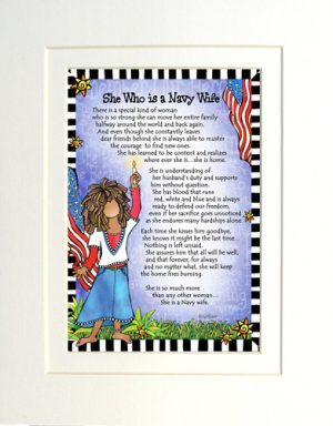 Navy Wife - Gifty art print - Matted