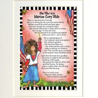 "She Who is a Marine Corp Wife – 8 x 10 Matted ""Gifty"" Art Print"