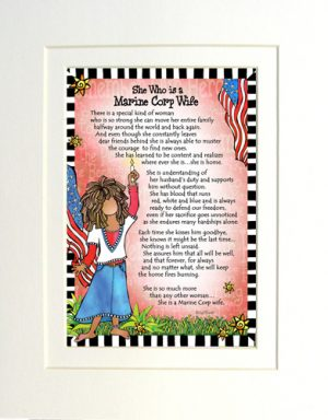 Marine Corp Wife - Gifty art print - Matted