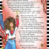 """She Who is a Marine Corp Wife – 8 x 10 Matted """"Gifty"""" Art Print"""