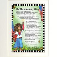 "She Who is an Army Guard Wife – 8 x 10 Matted ""Gifty"" Art Print"