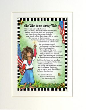 Army Wife - Gifty art print - Matted