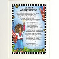 """She Who is a Coast Guard Wife – 8 x 10 Matted """"Gifty"""" Art Print"""