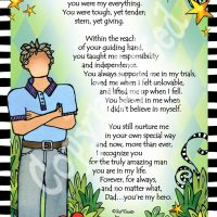 """My Father, My Hero – 8 x 10 Matted """"Gifty"""" Art Print"""