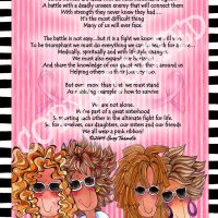 "The Pink Ribbon Sisterhood (Pink Ribbon) – 8 x 10 Matted ""Gifty"" Art Print"