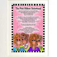"The Pink Ribbon Sisterhood (Pink Ribbon) – 8 x 10 Matted ""Gifty"" Art Print"