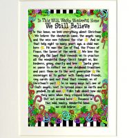 """In This Wild, Wacky, Wonderful Home We Still Believe – 8 x 10 Matted """"Gifty"""" Art Print"""