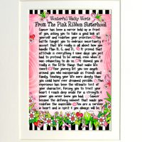 "Wonderful Wacky Words From The Pink Ribbon Sisterhood (Pink Ribbon) – 8 x 10 Matted ""Gifty"" Art Print"