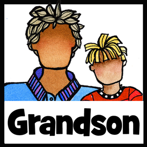 Grandson gifts - button