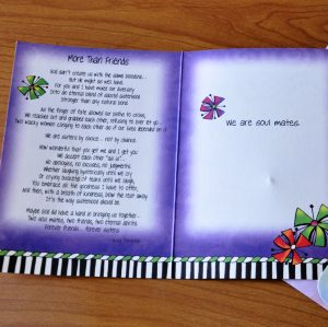 More Than Friends greeting card - inside