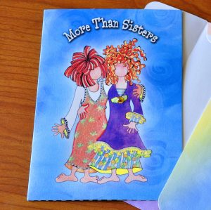 More Than Sisters greeting card outside