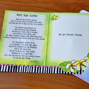More Than Sisters greeting card inside