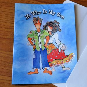 He who is my son greeting card - outside