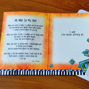 He who is my son greeting card - inside