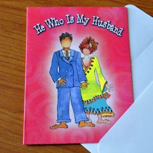 My Husband Greeting Card - outside