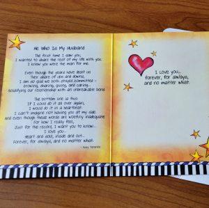 My Husband Greeting Card - inside